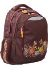 """Рюкзак для подростков коричневый YES """"Nature"""" T-22"""