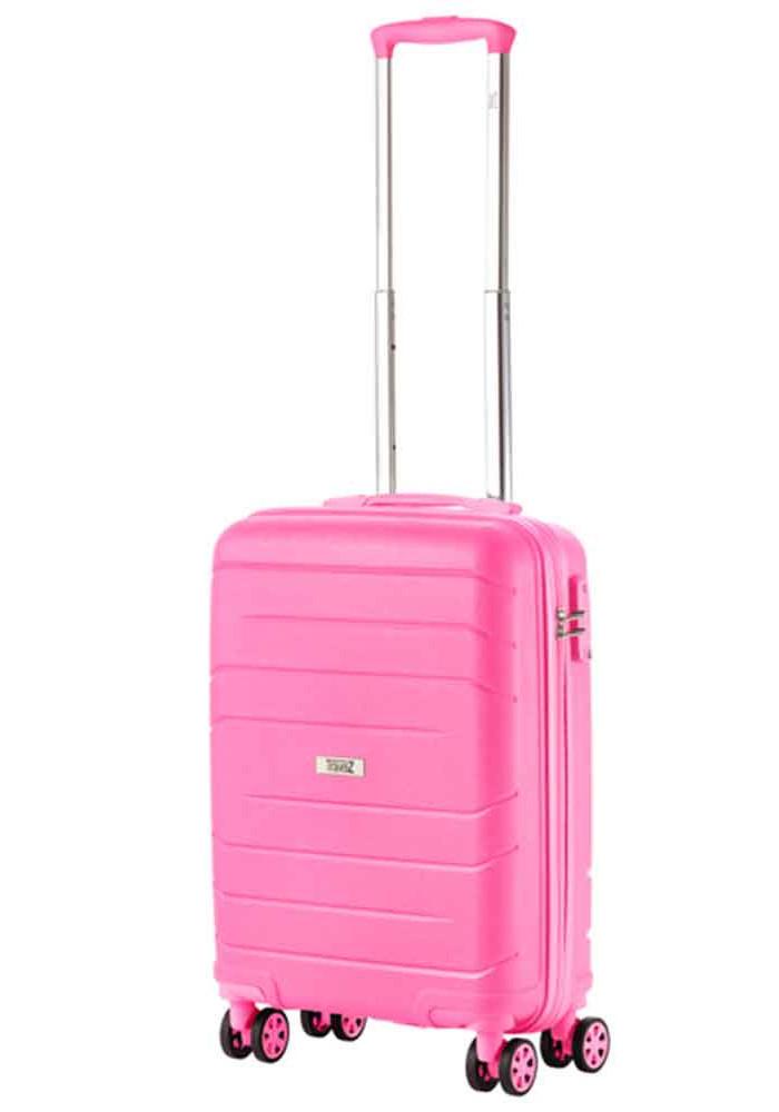 Фото Чемодан для ручной клади женский TravelZ Big Bars S Pink