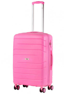 Фото Женский чемодан на колесах TravelZ Big Bars M Pink