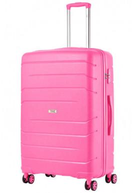 Фото Женский чемодан с колесами TravelZ Big Bars L Pink