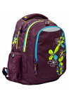 """Рюкзак для подростков коричневый YES """"Flora"""" T-22"""