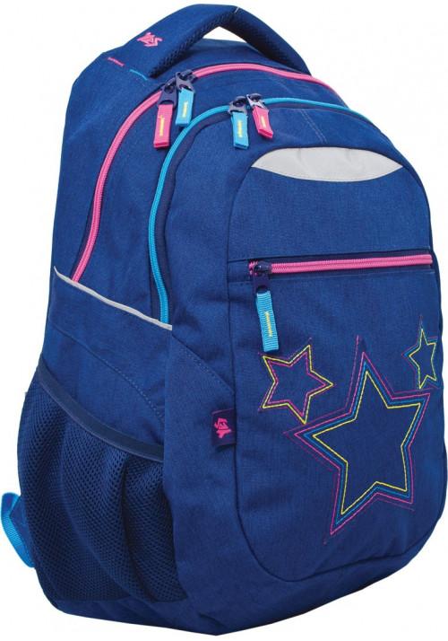 """Рюкзак для подростков синий YES """"Stars"""" T-23"""