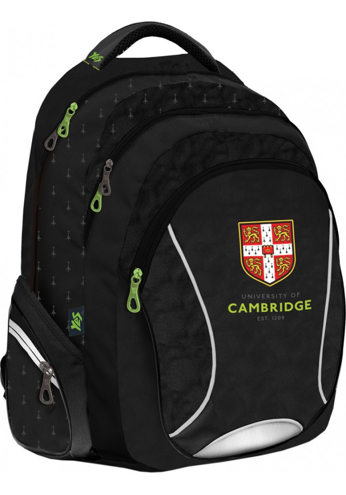 """Рюкзак для подростков черный YES """"Cambridge"""" T-24"""