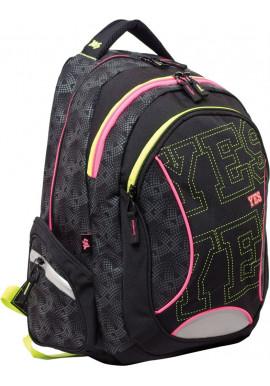 """Рюкзак для подростка черный YES """"Neono"""" T-24"""