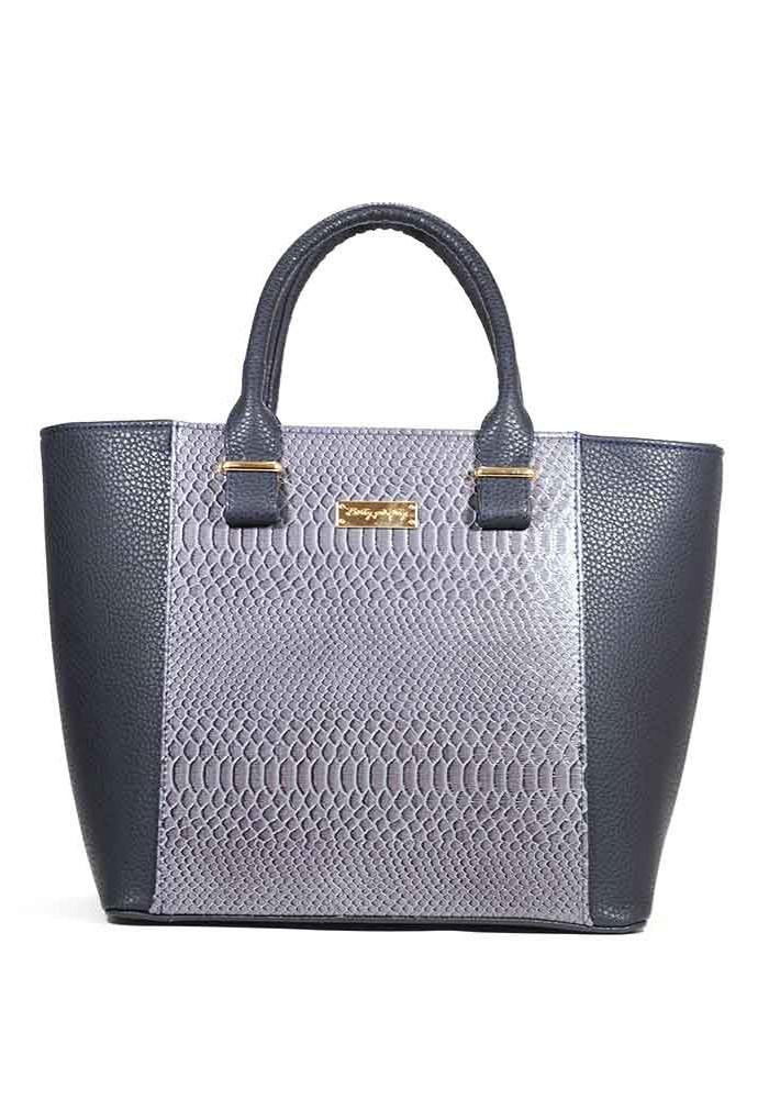Женская сумка тоут рептилия синяя 44-BLUE
