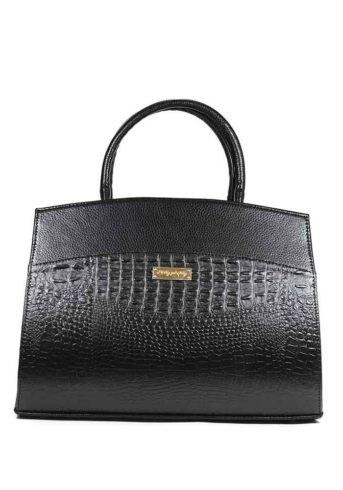Фото Женская сумка каркасная черная 98Y-M51-BLK