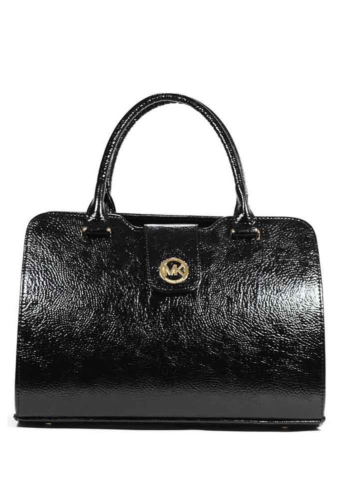 Женская сумка черная глянцевая MICHAEL KORS DKL-DIEGO-BLK