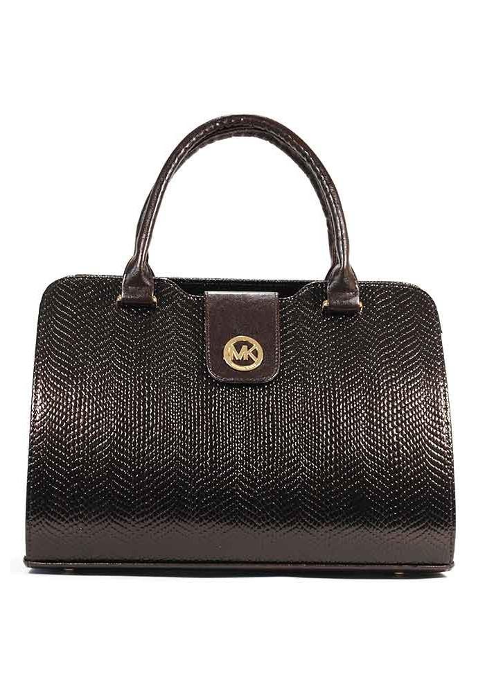 Женская коричневая лаковая сумка DKL-KB-1548
