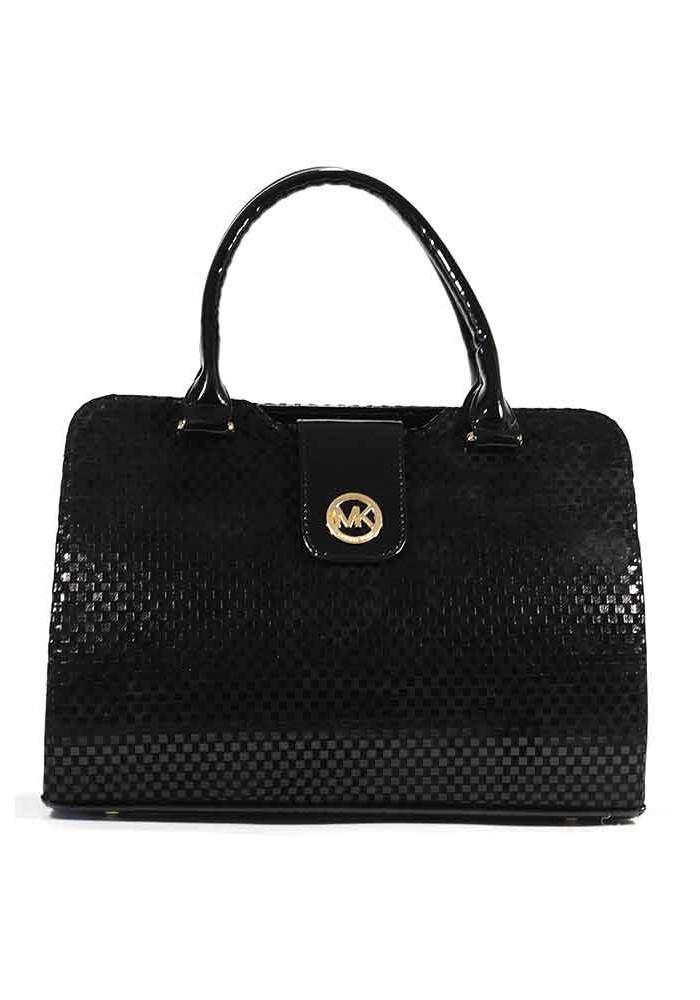 Фото Женская черная велюровая сумка MICHAEL KORS DKL-VEL5-LAK