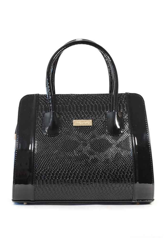 Фото Женская черная лаковая сумка 07TL-DRACON-LAK