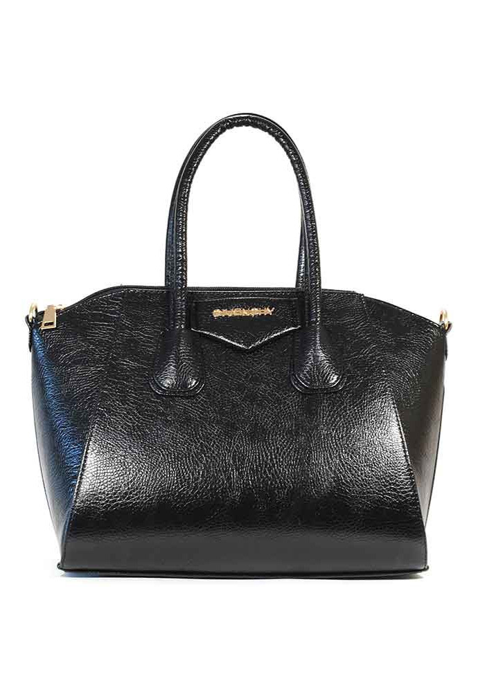 Фото Женская черная глянцевая сумка 35-DIEGO-BLK