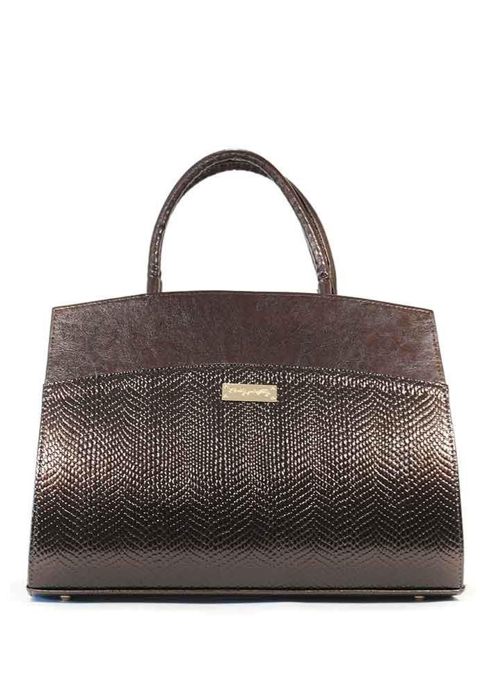 Женская коричневая каркасная сумка 98M-KB1548-BRN