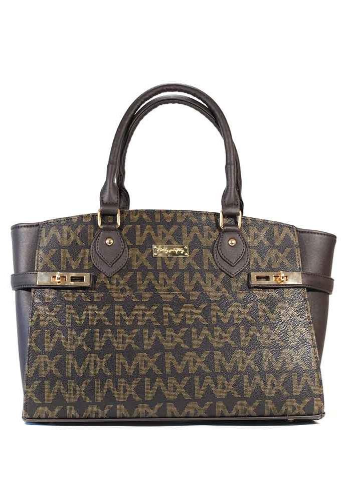 Коричневая женская сумка шопер 98Y-MK