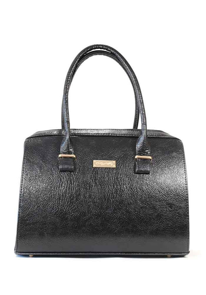 Глянцевая черная женская сумка 12P-DIEGO-BLK