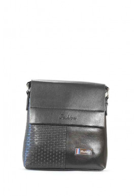 Фото Черная мужская сумка через плечо Fashion 108-2-blk