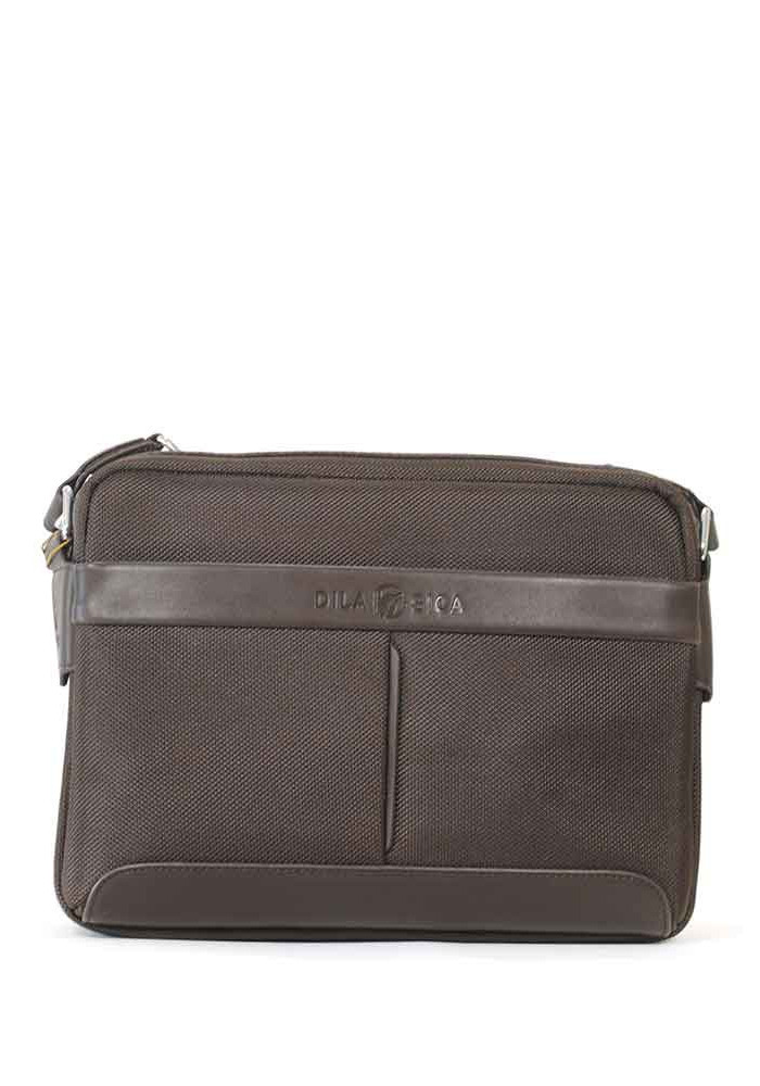 Мужская сумка через плечо Dilasica 904-3-brn