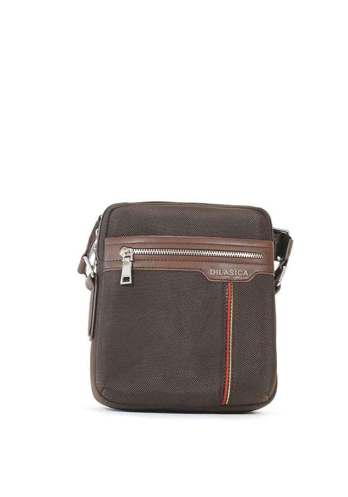 Мужская сумка через плечо Dilasica из ткани 909-1-brn