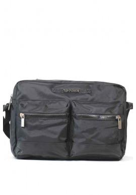 Фото Черная мужская сумка через плечо Top Power 2304-01