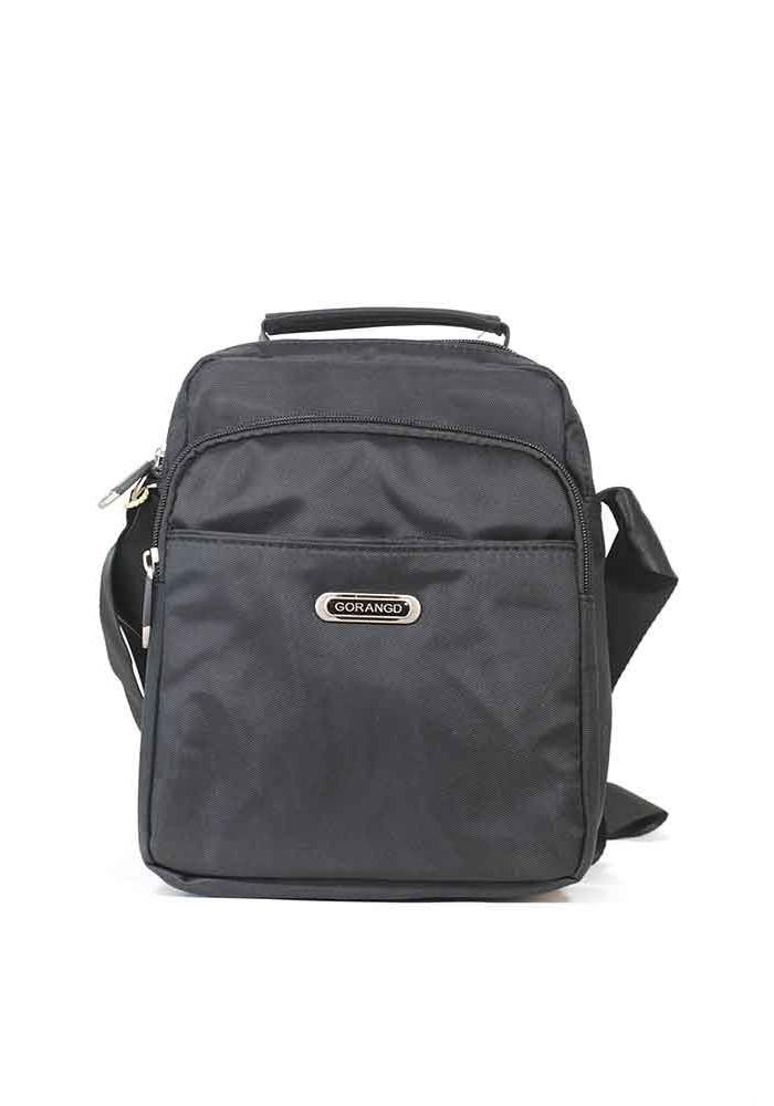 Вертикальная мужская сумка через плечо Gorangd 7360-blk