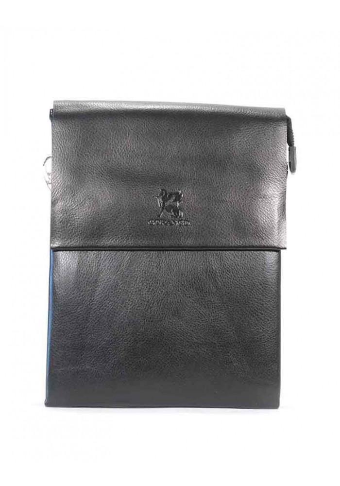 Фото Черная мужская сумка через плечо Gorangd 886-3-blk