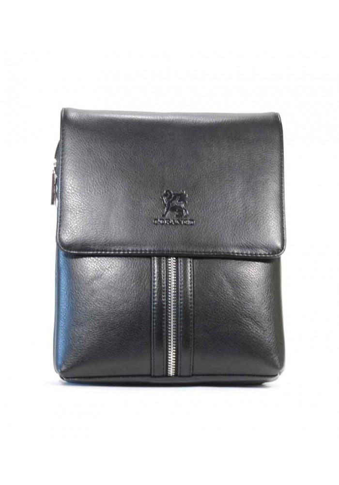 Черная мужская сумка через плечо Gorangd T6703-3-blk