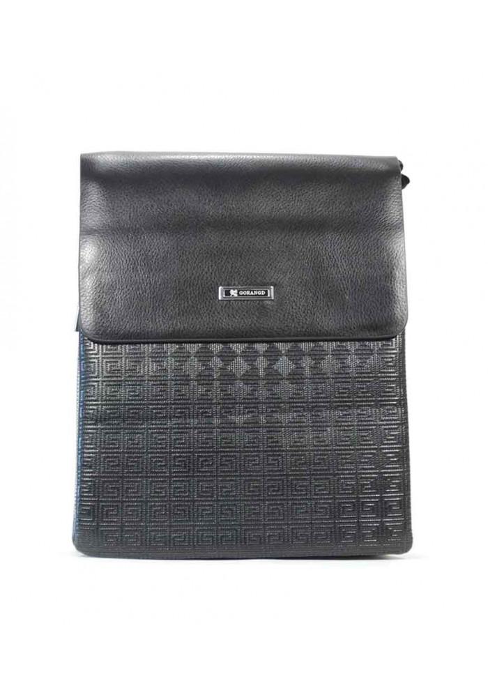 Фото Черная мужская сумка через плечо с узором Gorangd 6786-3