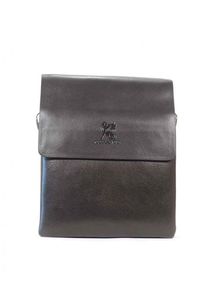 Коричневая мужская сумка через плечо Gorangd 6696-3