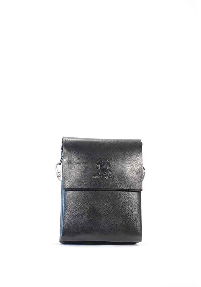 Маленькая черная мужская сумка через плечо Gorangd 886-0