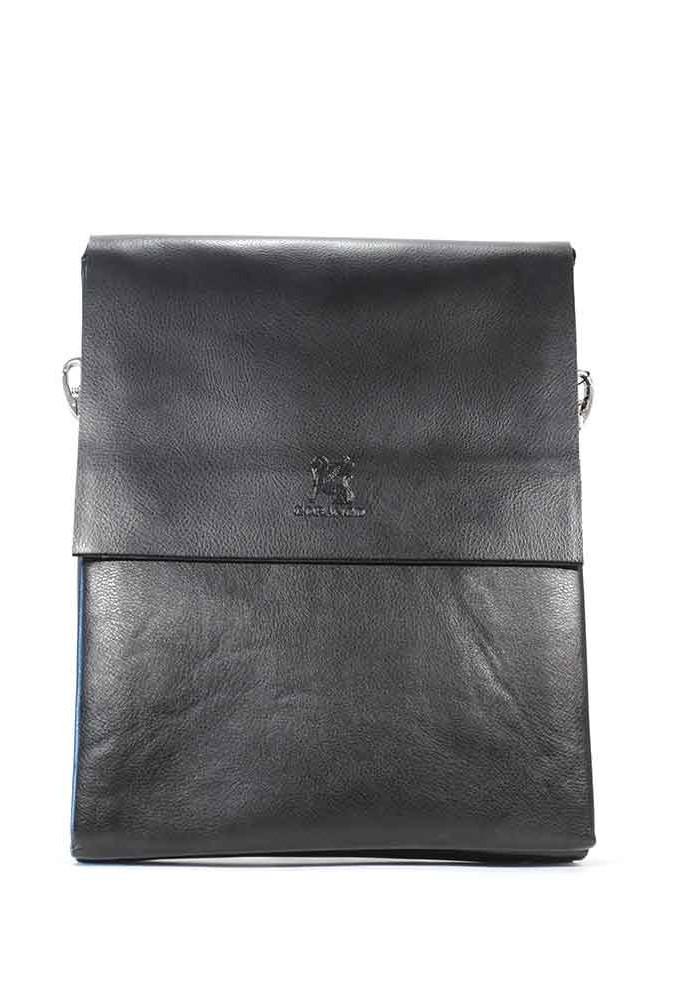 Большая черная мужская сумка через плечо Gorangd 886-5