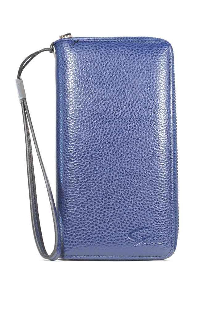 Синий кошелек с ручкой LL-2202