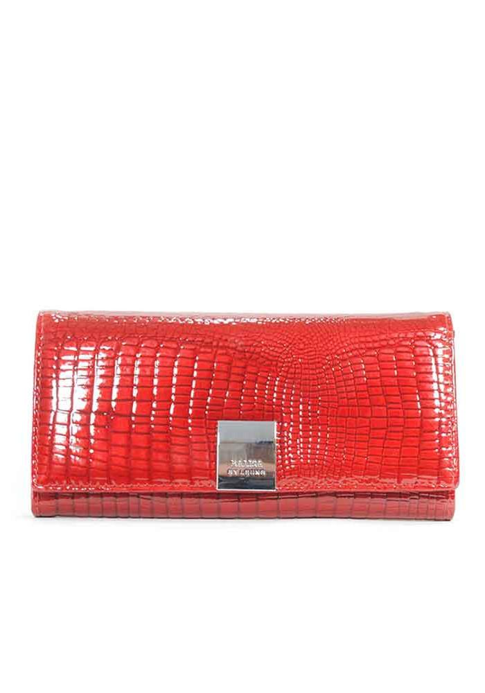 Красный лаковый женский кошелек Balisa C826-001-red