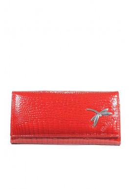 Фото Красный лаковый кожаный женский кошелек Balisa QB2-red