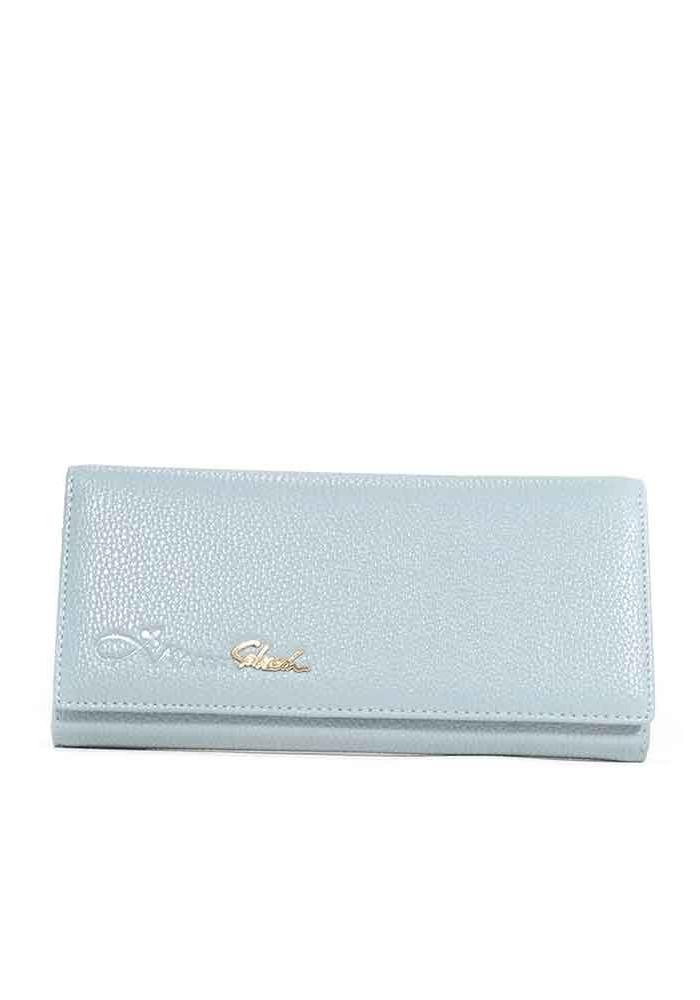 Стальной серый матовый женский кошелек 16A-4826-STEEL-GREY