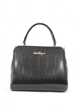Фото Черная лаковая женская сумка Salvadore Ferragamo 03-1251