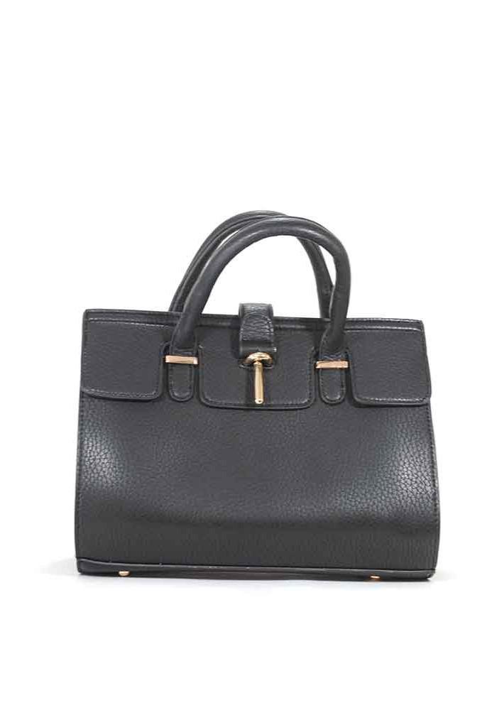 Черная матовая маленькая женская сумка 02-BLACK