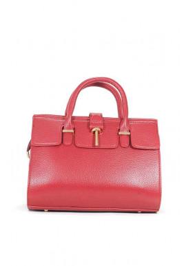Фото Красная матовая маленькая женская сумка 02-RED