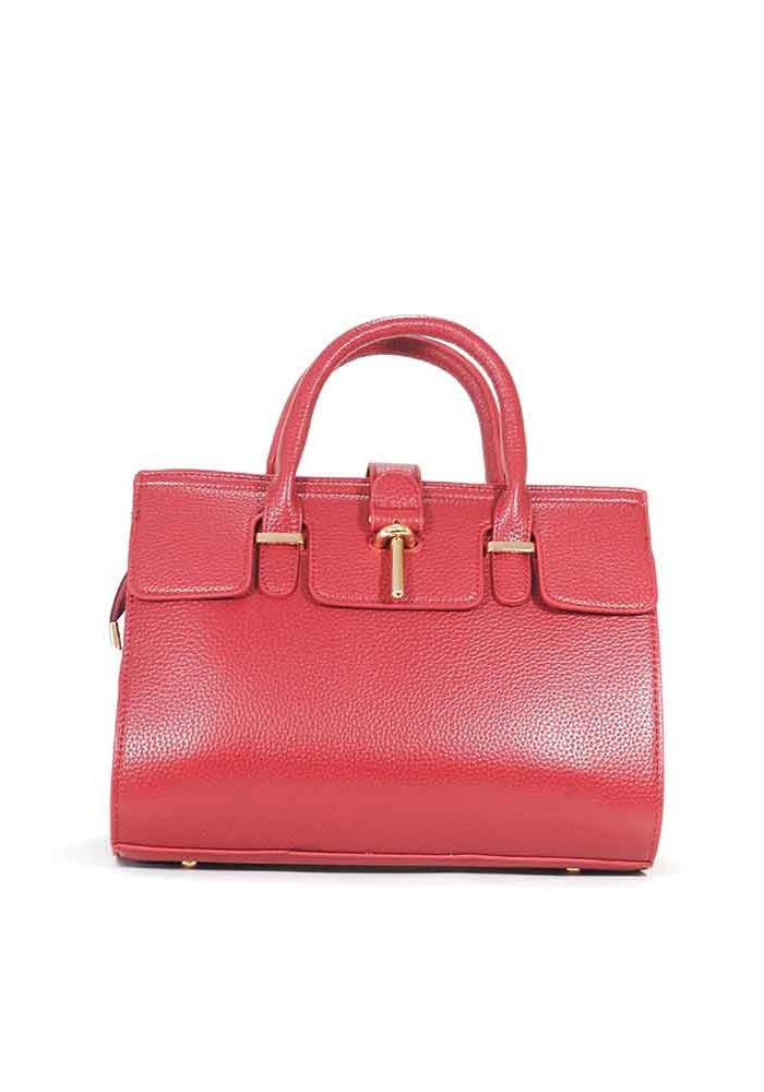 Красная матовая маленькая женская сумка 02-RED
