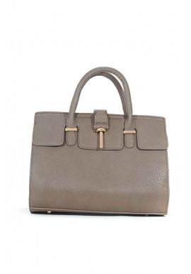 Фото Серая матовая маленькая женская сумка 02-GREY