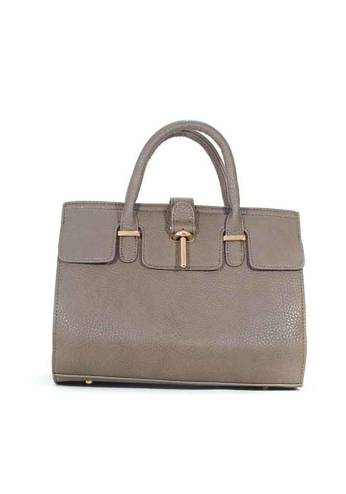 Серая матовая маленькая женская сумка 02-GREY