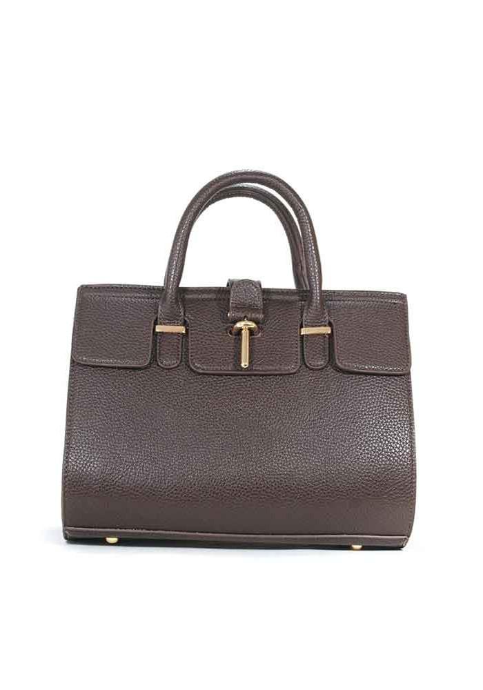 Фото Коричневая матовая маленькая женская сумка 02-BROWN