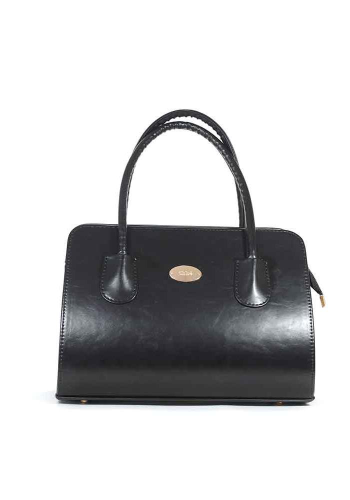 Фото Черная глянцевая сумка женская 16E-GLNC
