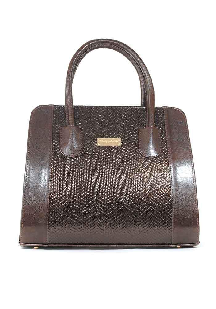 Коричневая лаковая женская сумка Betty Pretty 07TL-KB1548