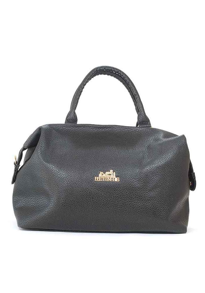 Черная матовая женская сумка 58-P001