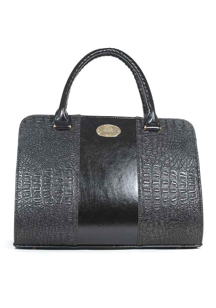 Комбинированная черная женская сумка Betty Pretty TLP4