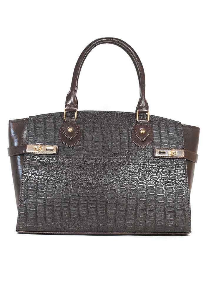 Фото Коричневая женская сумка шопер Betty Pretty 98Y-M52