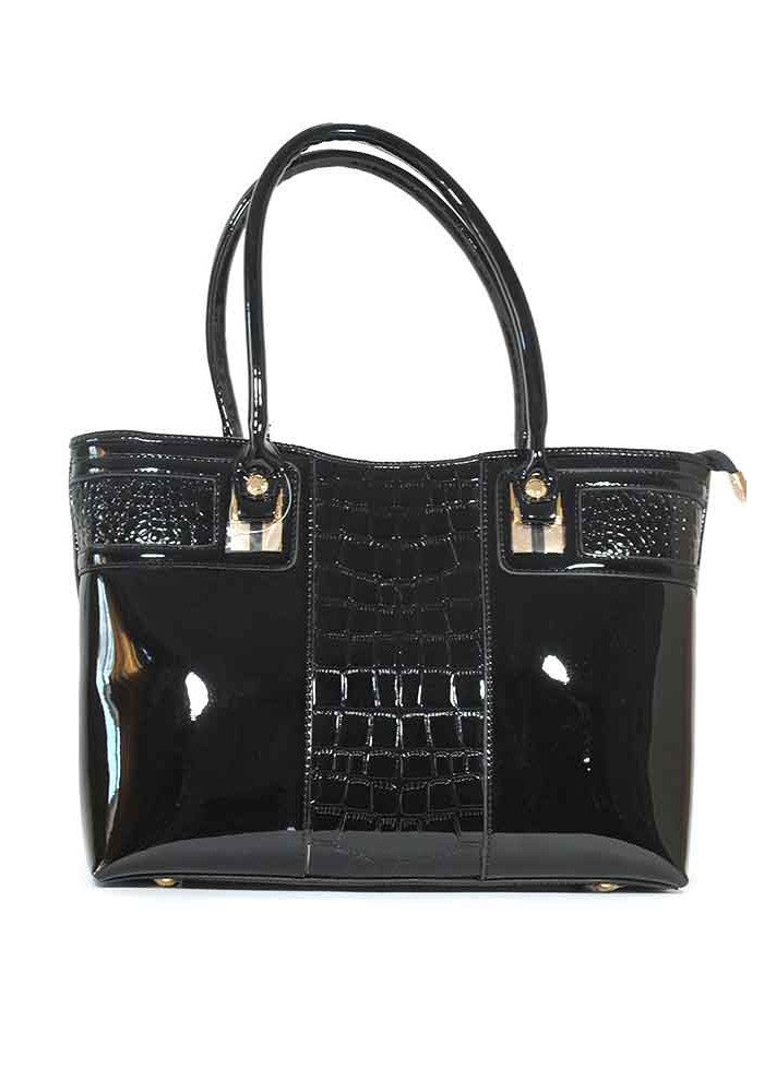 Лаковая женская сумка 68025-blk