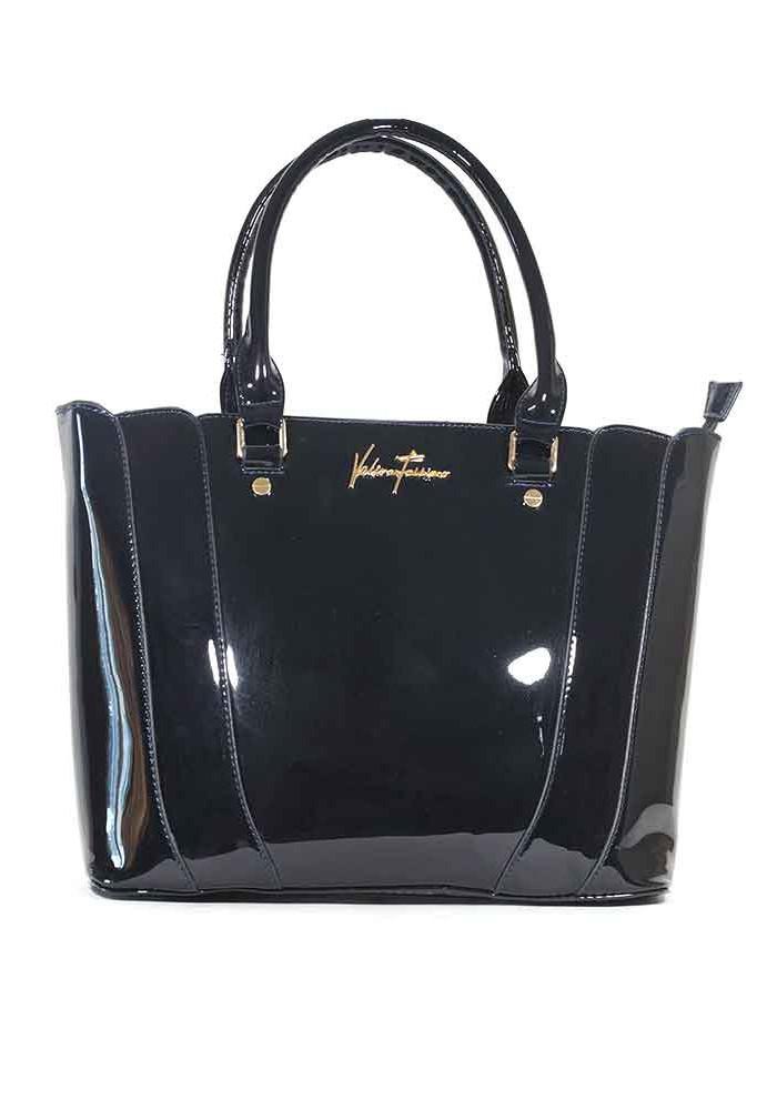 Лаковая синяя женская сумка 62180-BLUE