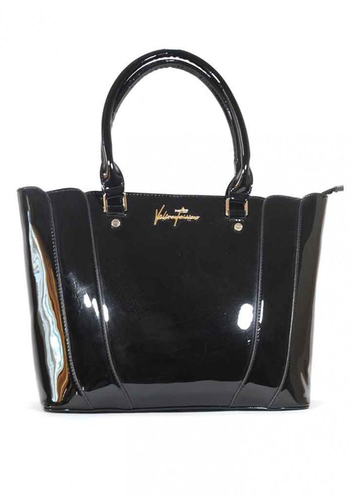 Лаковая черная женская сумка 62180-BLACK