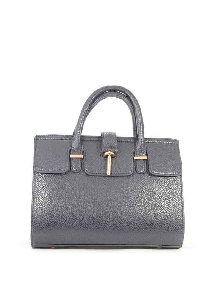 Фото Синяя матовая маленькая женская сумка 02-BLUE