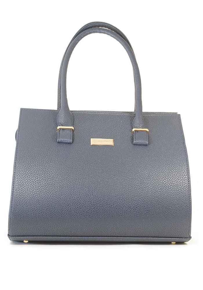 Большая синяя матовая женская сумка 99P-BLUE